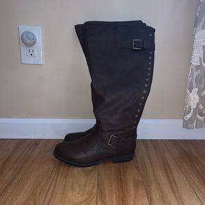 Journee Collection Leather Boots